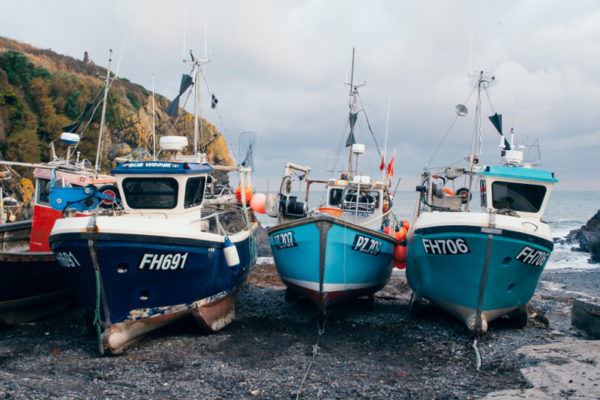 Fishing boats in Iceland