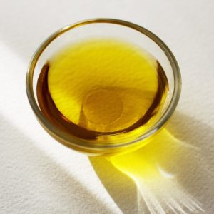 Cod liver oil in a bowl